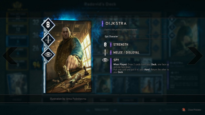 Gwent: The Witcher Card Game обзор