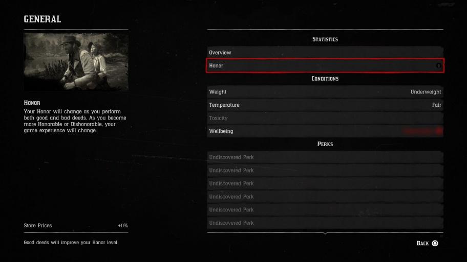 Как повысить уровень чести в Red Dead Redemption 2