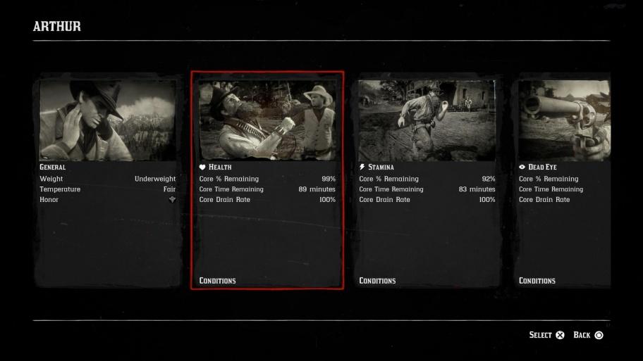 Как увеличить здоровье, выносливость и «Меткий глаз» в Red Dead Redemption 2