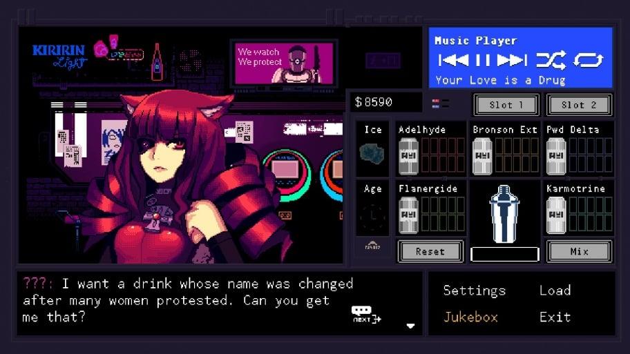 Мы зря пропустили VA-11 Hall-A: Cyberpunk Bartender Action