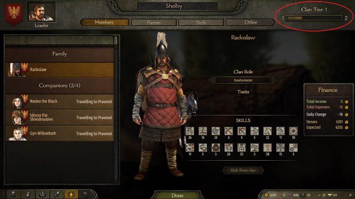 Mount & Blade 2: Bannerlord: Как увеличить уровень клана