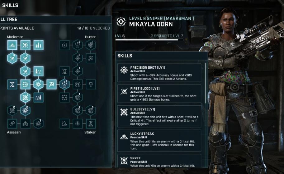 Gears Tactics: лучшие способности для каждого класса