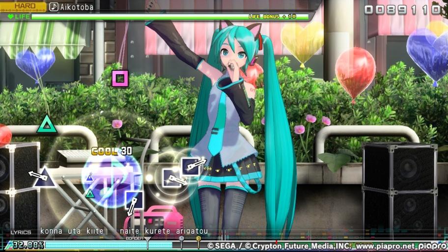 Hatsune Miku: Project DIVA Mega Mix обзор игры