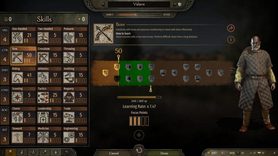 Mount & Blade 2: Bannerlord: как прокачать все навыки
