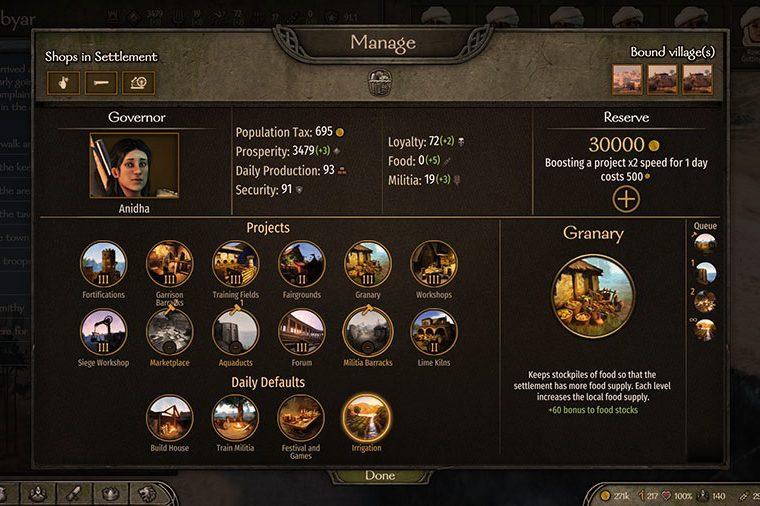 Mount & Blade 2: Bannerlord: как управлять королевством
