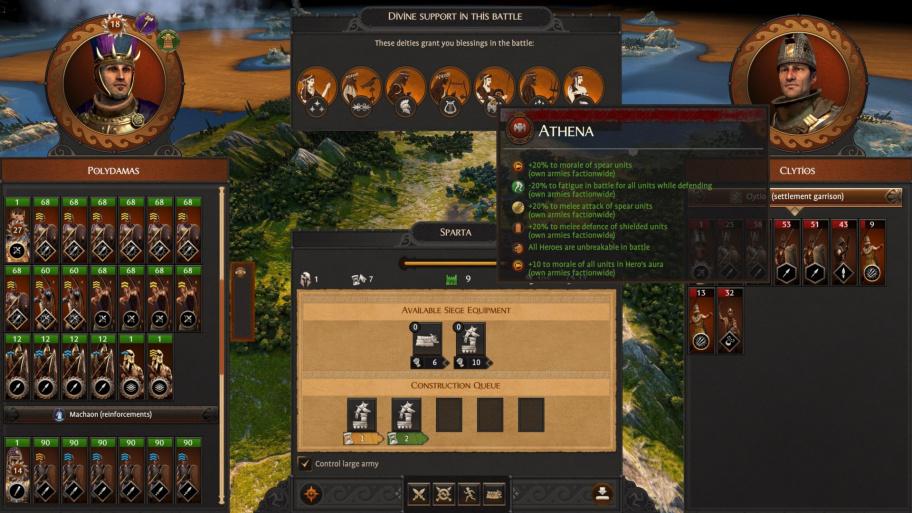 Total War Saga: Troy: гайд по богам, божественной воле и благосклонности