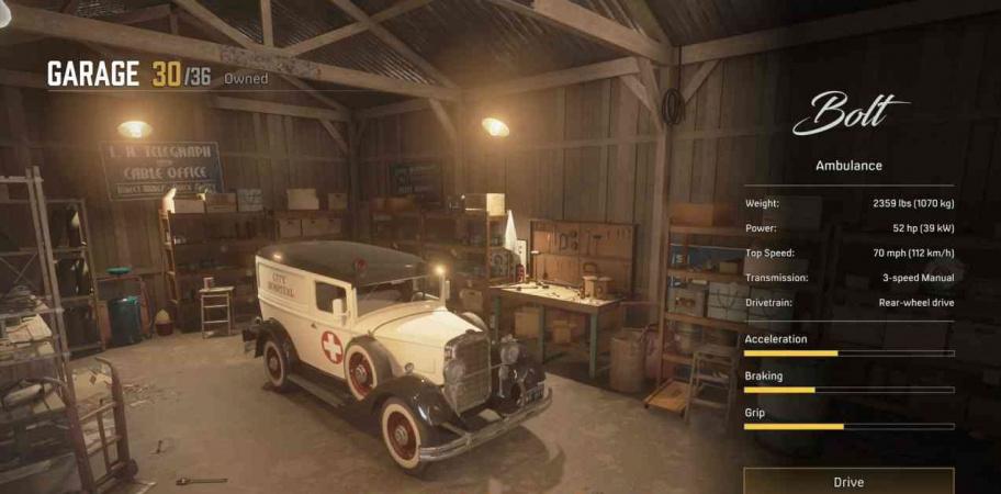 Mafia: Definitive Edition: все машины для гаража Томми