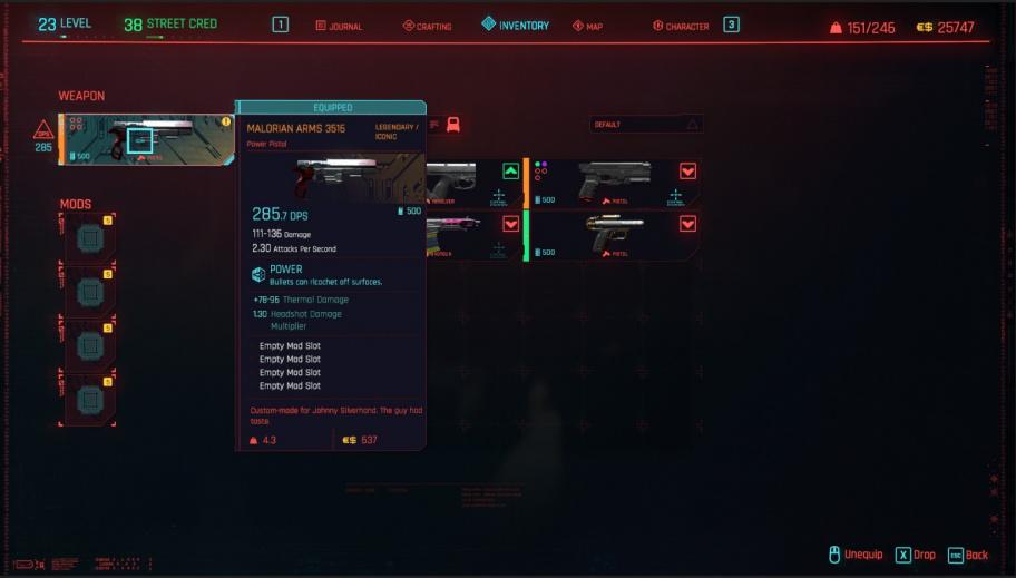 Cyberpunk 2077: все легендарное оружие и броня