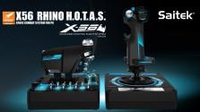 Джойстик и рычаг Saitek X-56 Rhino для космических симуляторов