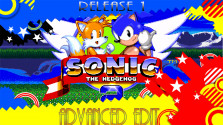 Sonic 2: Advanced Edit — Release 1 (Sega Mega Drive).