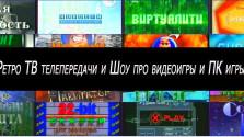 Игровые Ретро ТВ телепередачи и ШОУ про видеоигры и ПК игры