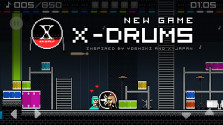 X-Drums. Pixel-art game.