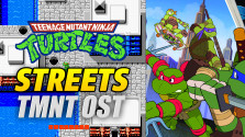 tmnt nes game. streets. guitar cover.