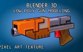 [Blender] Моделирование пиксельной пушки + моделирование космического корабля