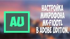 КАК НАСТРОИТЬ МИКРОФОН MK F100 TL [и др.]
