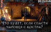 Ведьмак 3: Дикая Охота — Что будет, если спасти Чародея с костра