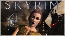 девчонка играет в skyrim (смешные моменты, фейлы)