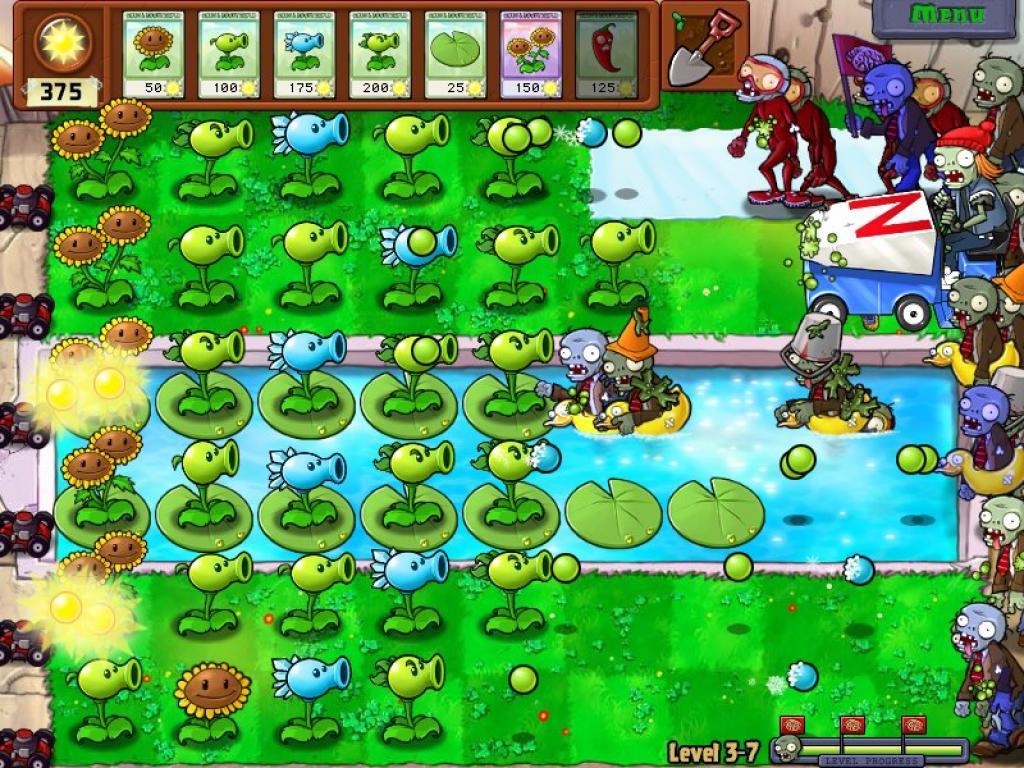 зомби сад игры