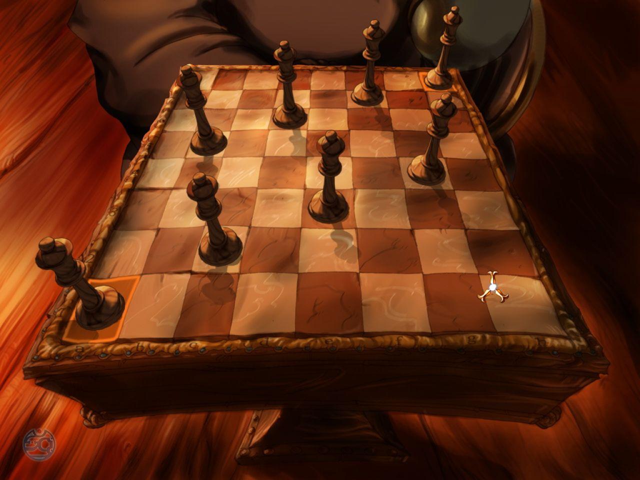 Один из вариантов расстановки на шахматной доске восьми ферзей, при котором эти фигуры не могут угрожать друг другу