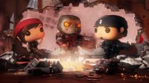 Геймплей мобильной Gears of War по мотивам игрушек с большими головами