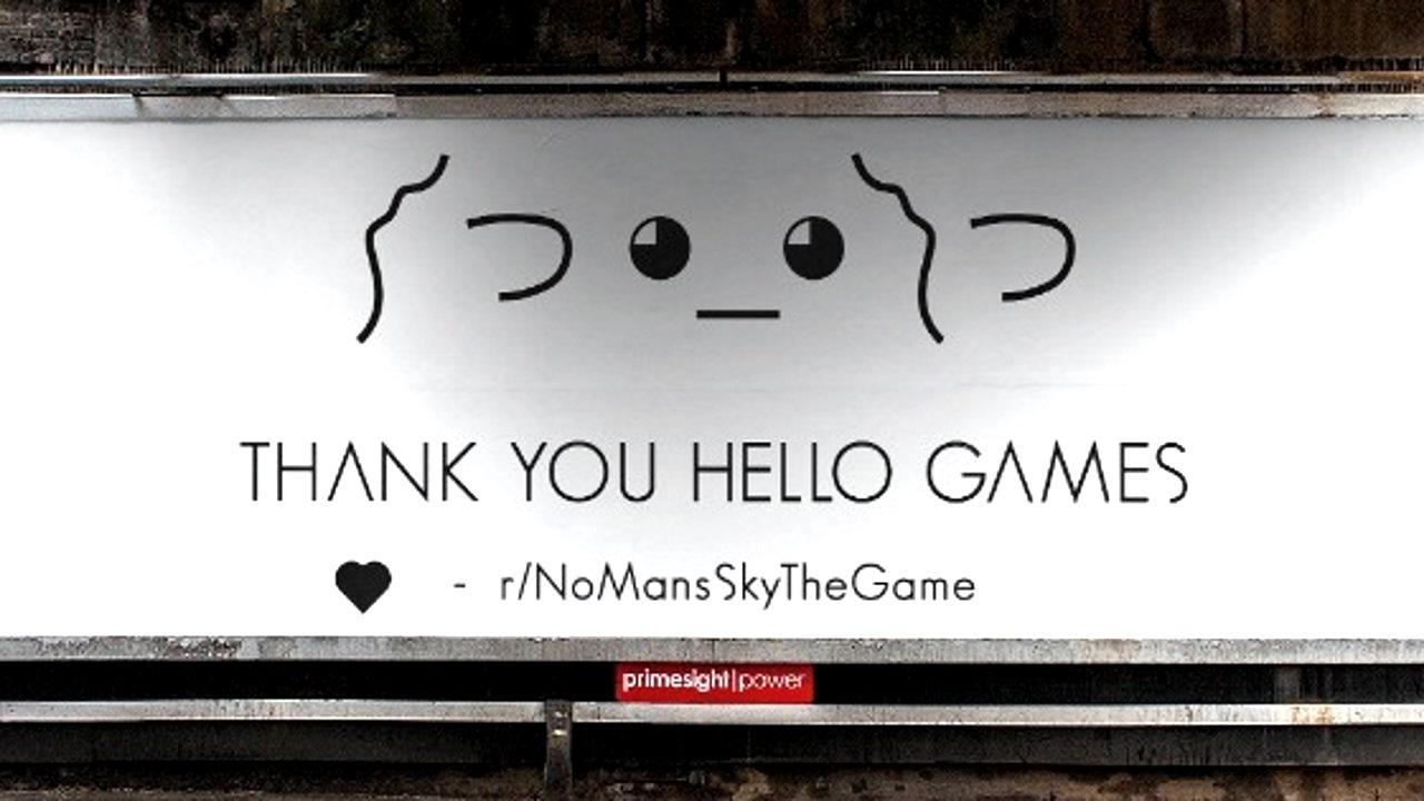 Фанаты покупают место на рекламном билборде, чтобы отблагодарить Hello Games за No Man's Sky