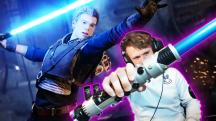 Пластиковый световой меч и перчатка Силы — стример собрал необычные контроллеры для игры в Jedi: Fallen Order
