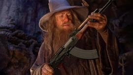 Создатели Wizard with a Gun вдохновлялись мемом, где Гэндальф держит АК-47