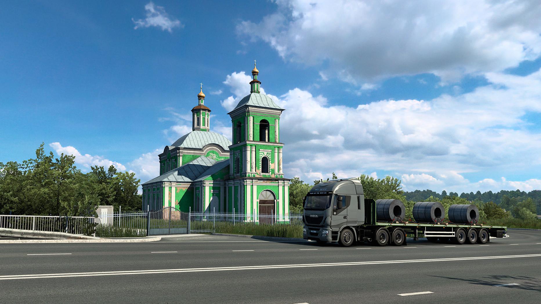 «Золотые купола душу мою радуют» — скриншоты с церквями из дополнения Heart of Russia для Euro Truck Simulator 2