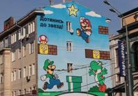 Видео о том, как в Москве появился Марио