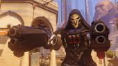 Геймплейный фрагмент Overwatch с мрачным Жнецом
