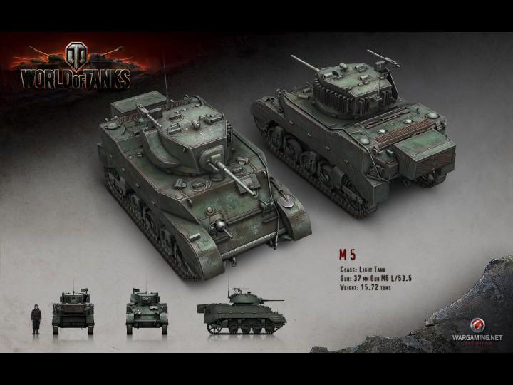Обои world of tanks, м-5, лёгкий, танк, свет картинки на рабочий стол, разд