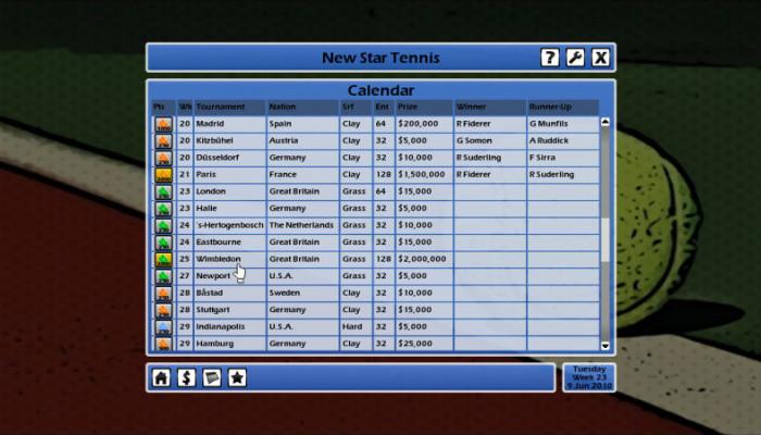 к игре New Star Tennis