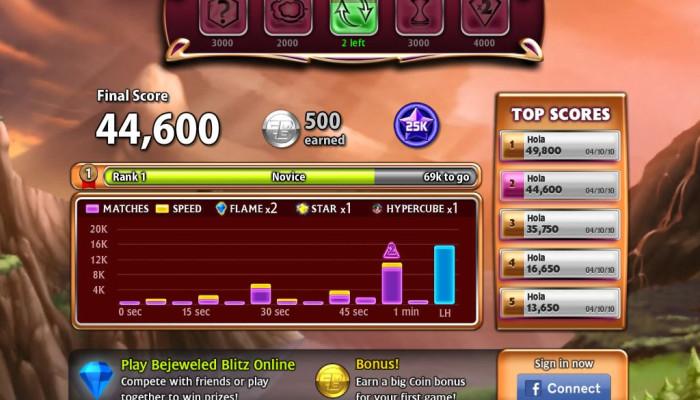 к игре Bejeweled Blitz
