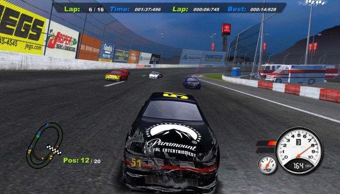 к игре Days of Thunder: NASCAR Edition