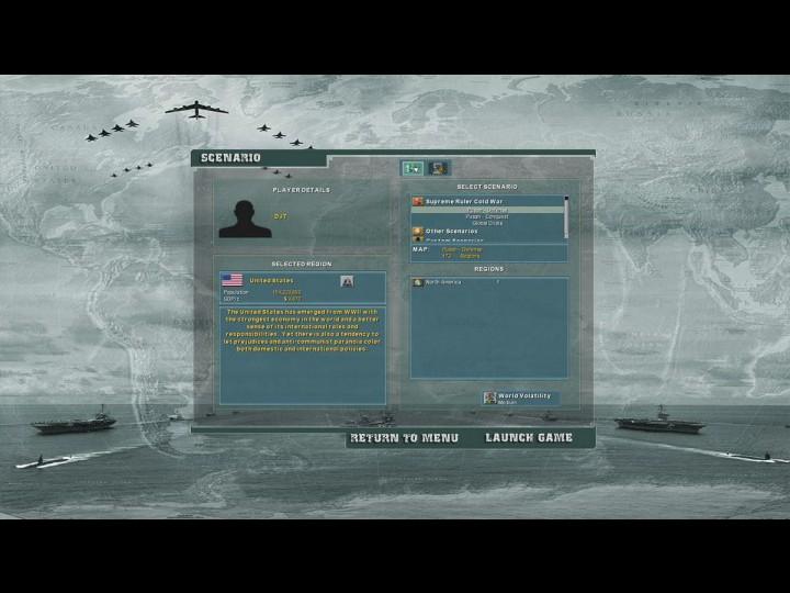 Скриншот из игры Supreme Ruler: Cold War (2011) PC (RePack от R.G.OldGames)