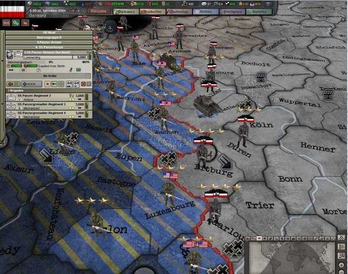 Скриншот к игре Hearts of Iron III: For The Motherland #10.