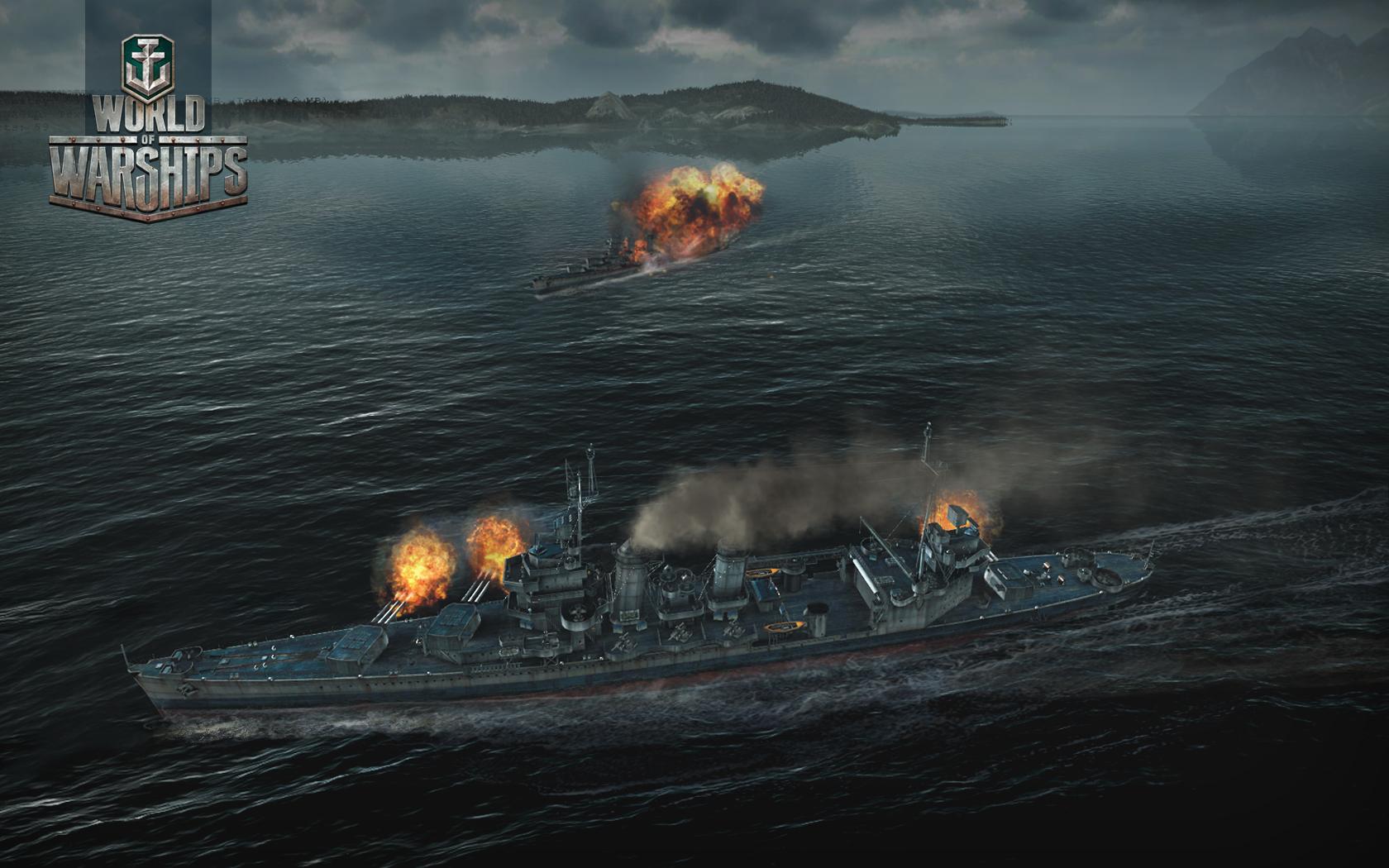 Обои wg, wargaming net, wows, мир кораблей, шторм. Игры foto 18