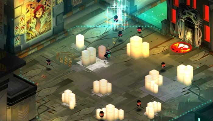 Скриншоты из игры Transistor