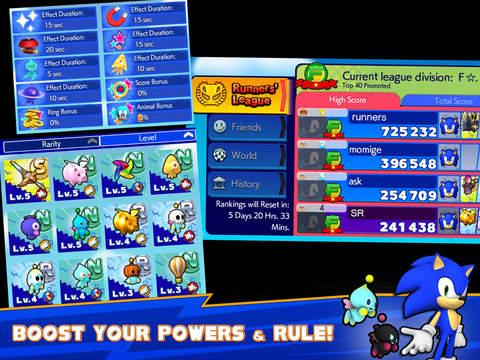 к игре Sonic Runners