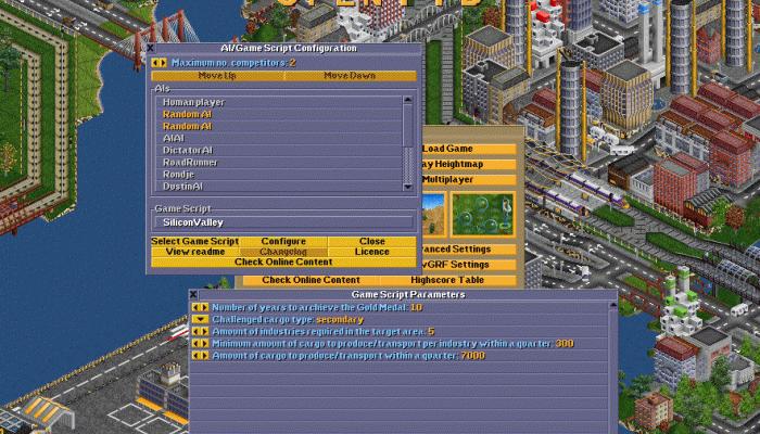 к игре Open Transport Tycoon Deluxe