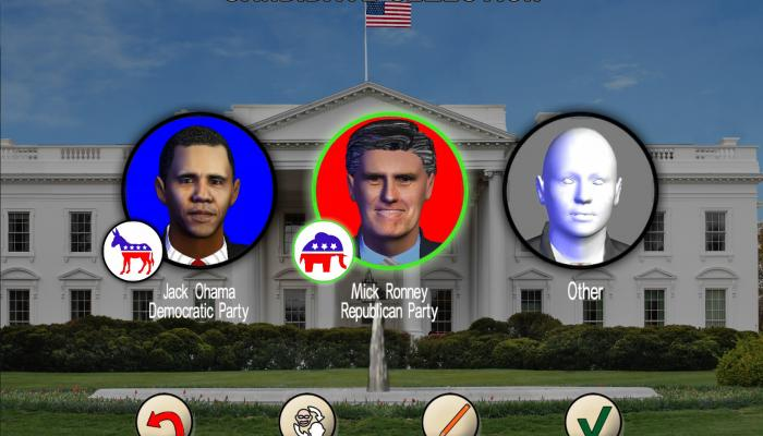 к игре Race for the White House, The