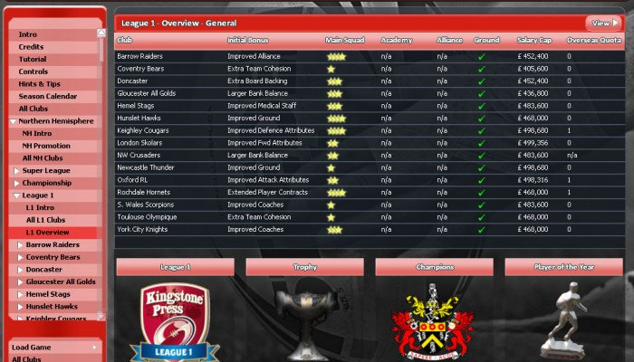 к игре Rugby League Team Manager 2015