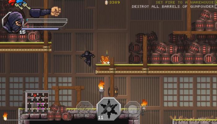 к игре Pixel Shinobi Nine demons of Mamoru