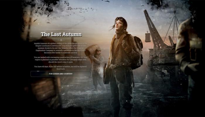 к игре Frostpunk: The Last Autumn