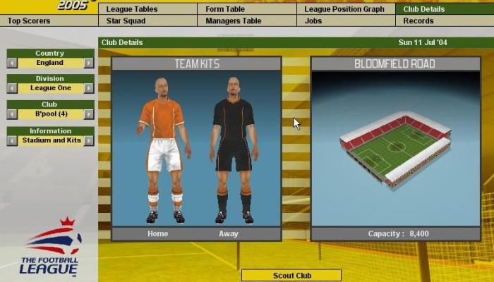 к игре LMA Professional Manager 2005