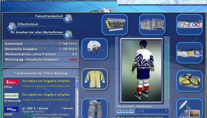к игре Ice Hockey Club Manager 2005