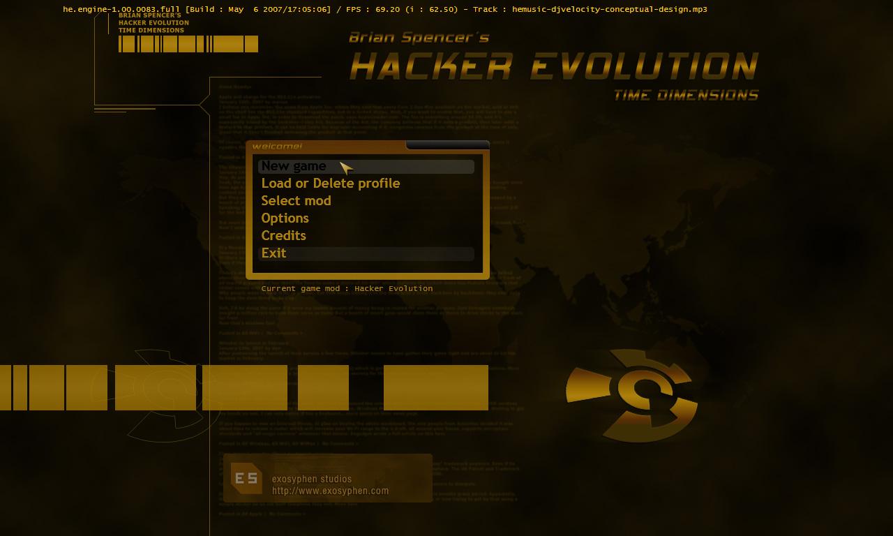 Скриншоты для игры Hacker Evolution.