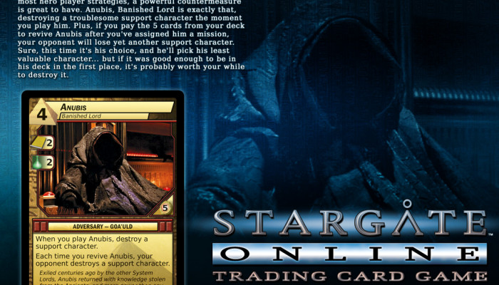 к игре Stargate Online Trading Card Game