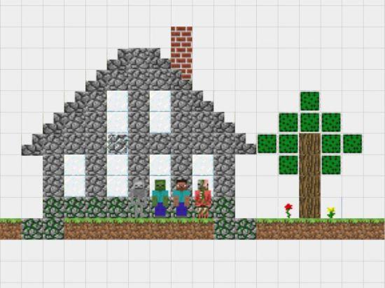 Чертежи домов в minecraft.