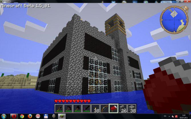 Мой первый замок в майнкрафте